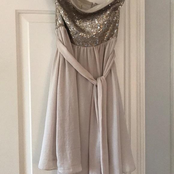 Rebecca Taylor Dresses & Skirts - Sequin silk dress strapless